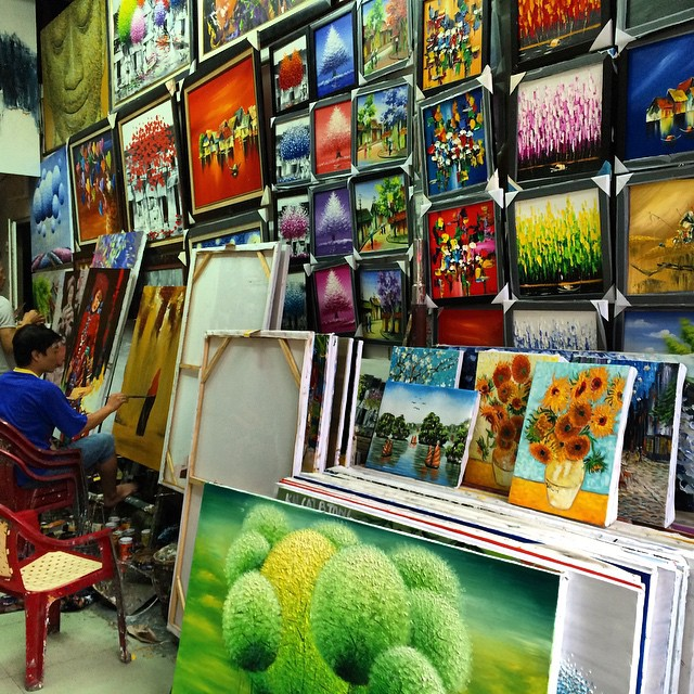 Buying Art in Hanoi