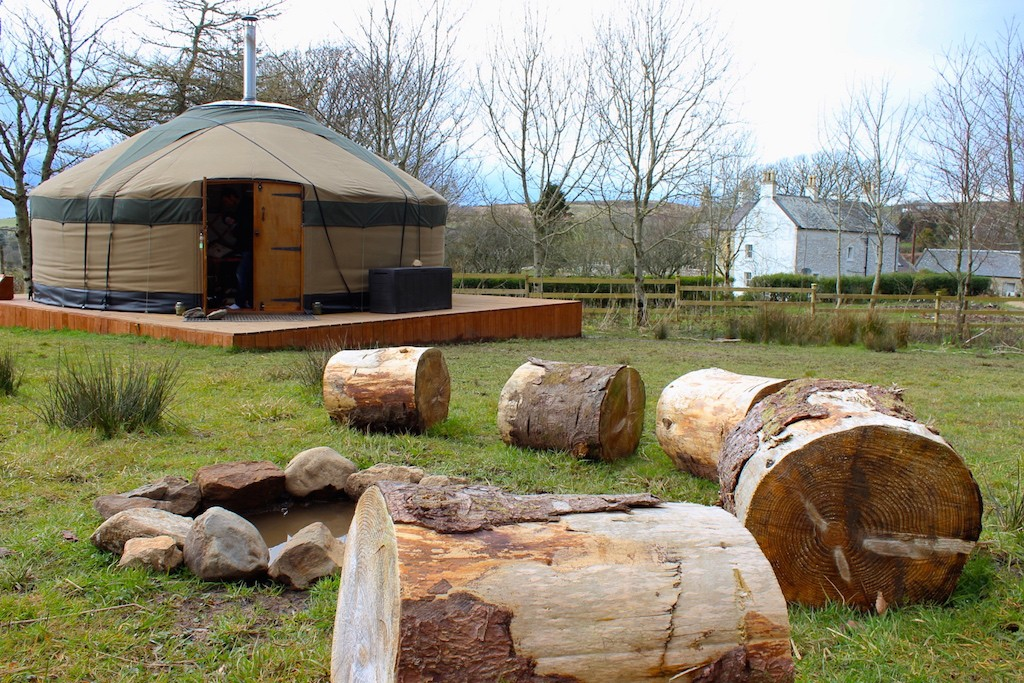glamping on arran yurts