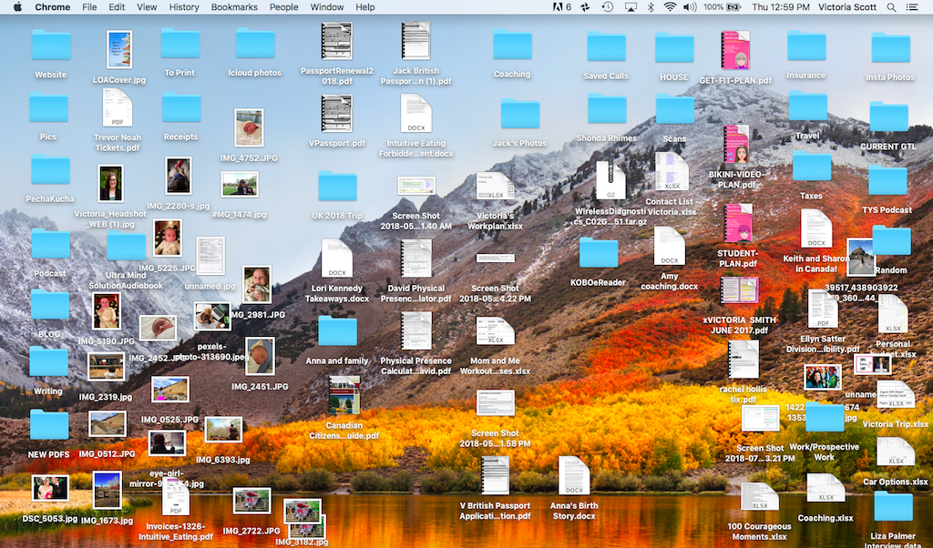 Clear the clutter - messy desktop