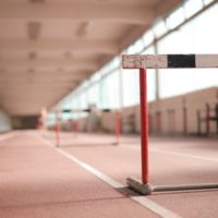 row-of-barriers-on-empty-track-3763878-1